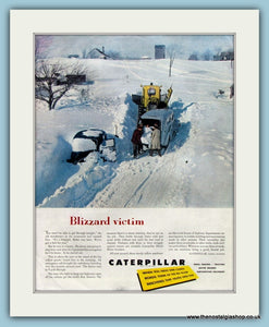 Caterpillar Diesel Motor Graders Original Advert 1953 (ref AD8217)