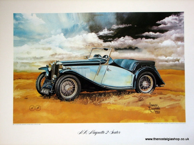 MG NA, Magnette 2-Seater. Classic Car Print.
