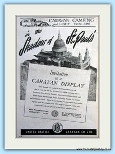 Caravan Display Invite Original Advert 1952 (ref AD6358)