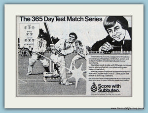 Subbuteo Cricket Original Advert 1979 (ref AD6394)