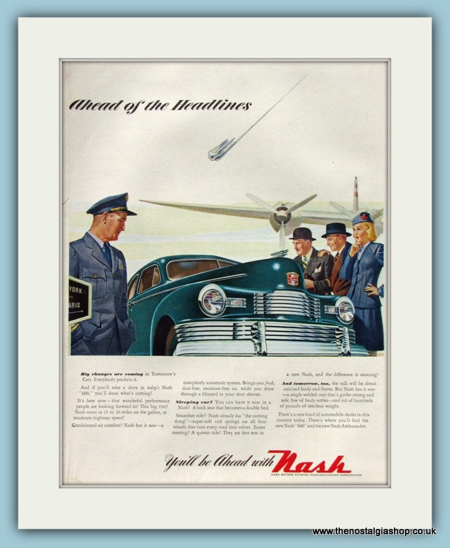 Nash Motors Original Advert 1946 (ref AD8317)