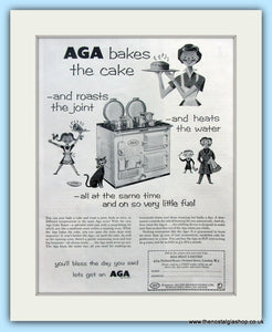 AGA Cooker. Original Advert 1956 (ref AD4750)