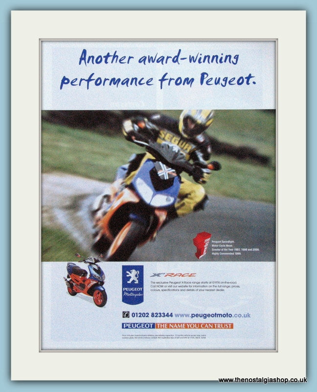 Peugeot X Race Scooter Original Advert 2000 (ref AD4188)