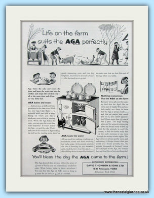 AGA on the Farm. Original Advert 1955 (ref AD4753)