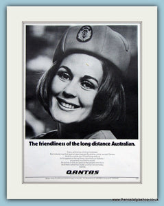 Quantas Airline Original Advert 1971 (ref AD2143)