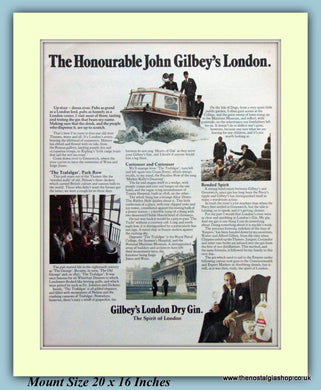 John Gilbey's London Dry Gin Original Advert 1970 (ref AD9342)