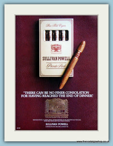 Sullivan Powell Cigars Original Advert 1986 (ref AD6138)