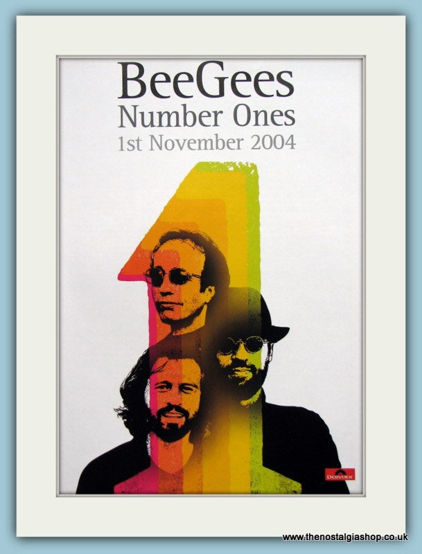 Bee Gees E.S.P & Number Ones  1987 / 2004 Original Music Adverts Set of 2 (ref AD3449)