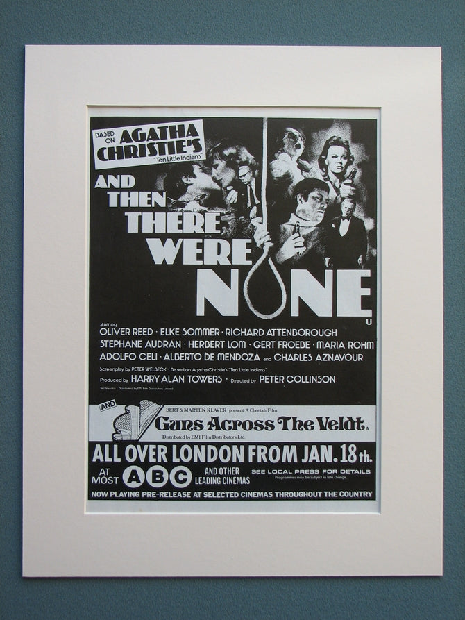 And Then There Were None 1976 Original advert (ref AD647)