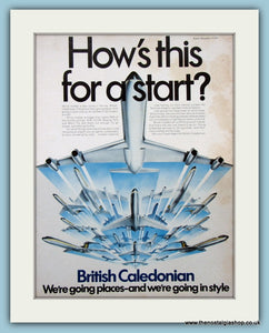 British Caledonian Airways Original Advert 1971 (ref AD2119)
