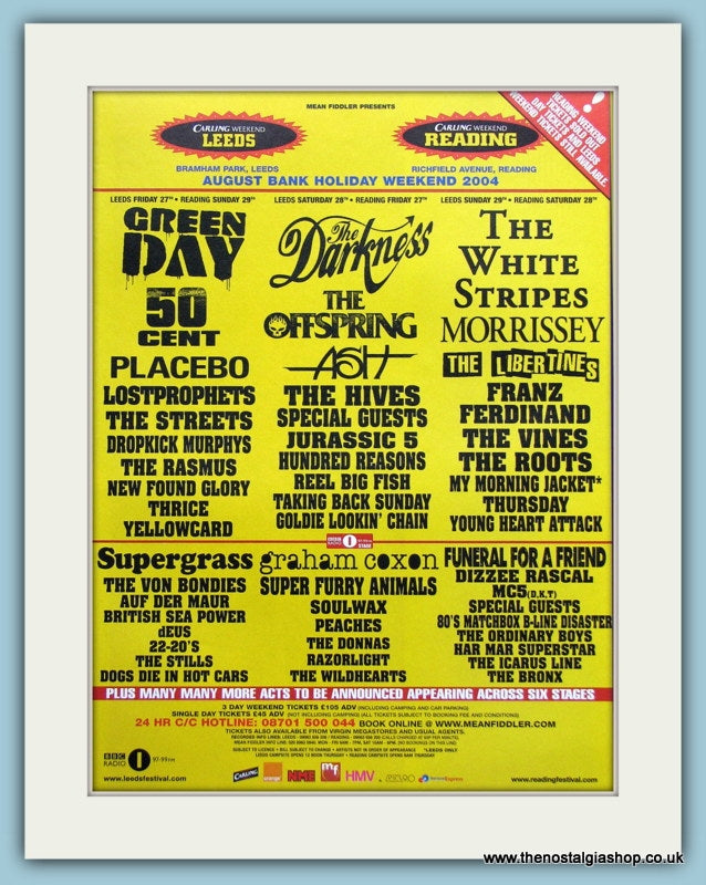 Carling Weekend Reading & Leeds Festival Advert 2004 (ref AD3376)