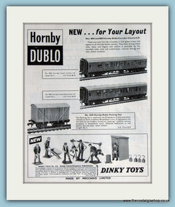 Dinky Toys Hornby Dublo 1962 Original Advert (ref AD2840)