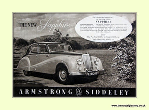 Armstrong Siddeley Sapphire Original Advert 1952 (ref AD6674)
