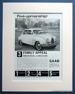 Saab 1962 Original Advert (ref AD1491)