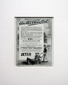 Atco Motor Mower. Original advert 1924 (ref AD1564)