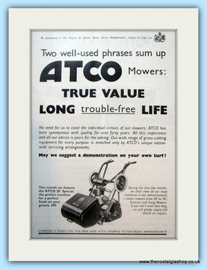 Atco Mowers. Original Advert 1966 (ref AD4645)