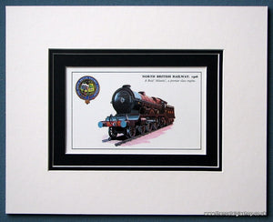 Atlantic North British Railway1906 Mounted Print (ref SP5)