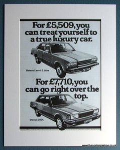 Datsun Laurel 2 Litre & Datsun 280C 1980 Original Advert (ref AD1739)