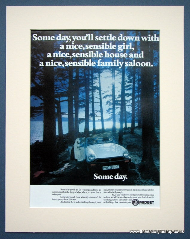 MG Midget. Original advert 1979 (ref AD1353)