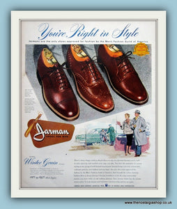 Jarman Shoes. Original Advert 1957 (ref AD8196)