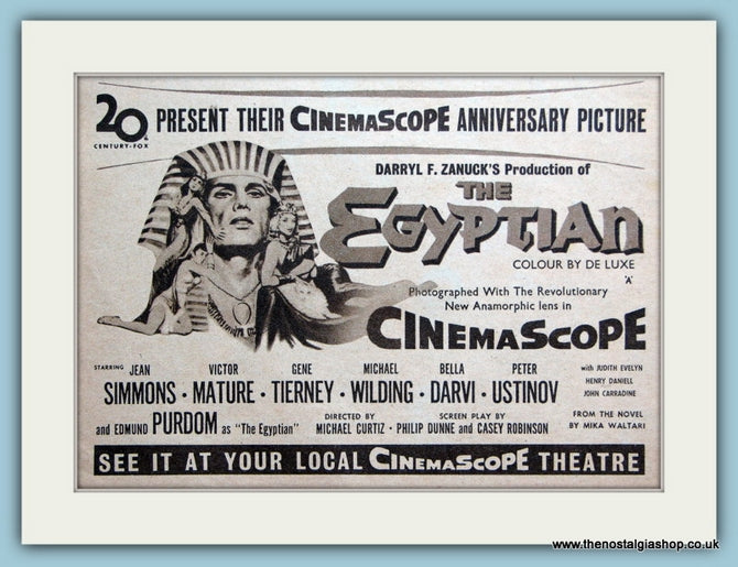 The Egyptian - Jean Simmons, Victor Mature 1955 Original Film Advert (ref AD3340)