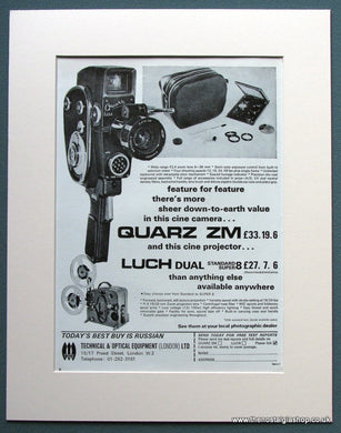 Quarz ZM Cine Projector Luch Dual 1968 Original Advert (ref AD1066)