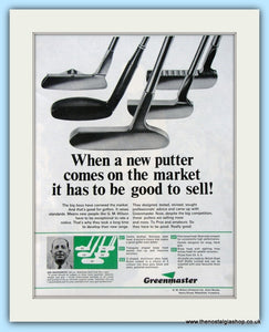 Greenmaster Putters. Original Advert 1967 (ref AD4994)