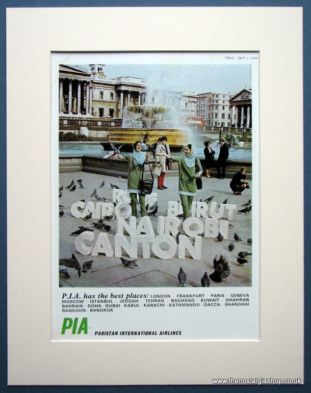 Pakistan International Airlines. Original advert 1969 (ref AD962)