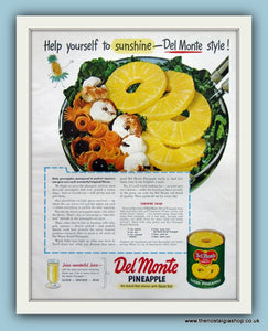 Del Monte Pineapple. Original Advert 1947 (ref AD8132)