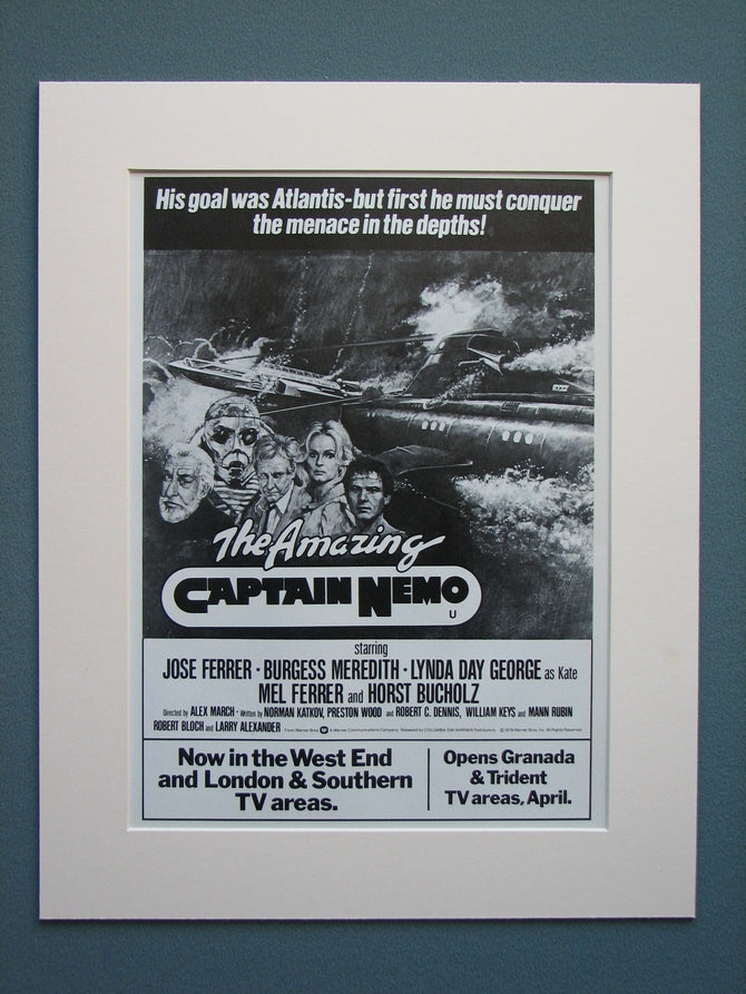 The Amazing Captain Nemo 1979 Original advert (ref AD557)