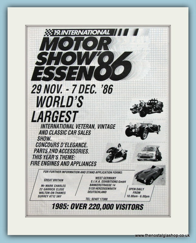 Essen Motor Show 1986. Original Advert. (ref AD2010)