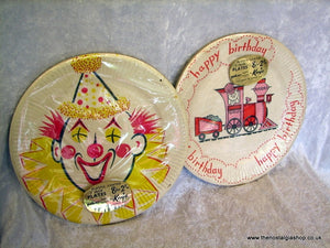 Vintage Birthday Party Plates, 2 Packs. (ref nos056)