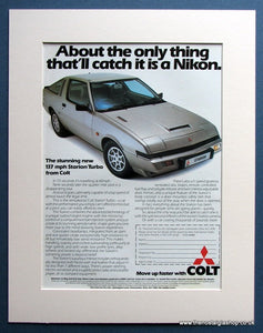 Colt Starion Turbo 1982 Original Advert (ref AD1481)