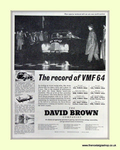 Aston Martin VMF 64 Original Advert 1953 (ref AD6733)