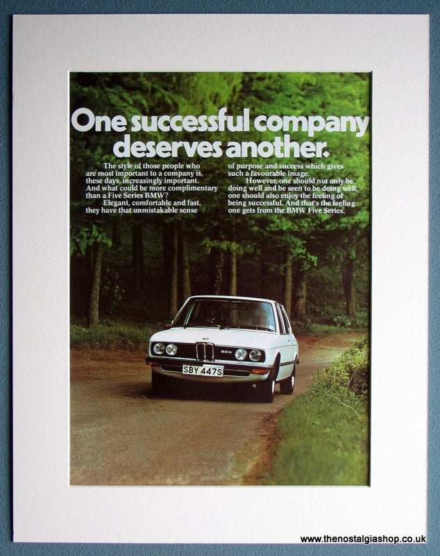 BMW 5 Series 1977 Original Advert (ref AD 1646)