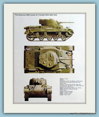 American M22 Locust Air-Transortable Light Tank Print (ref PR492)