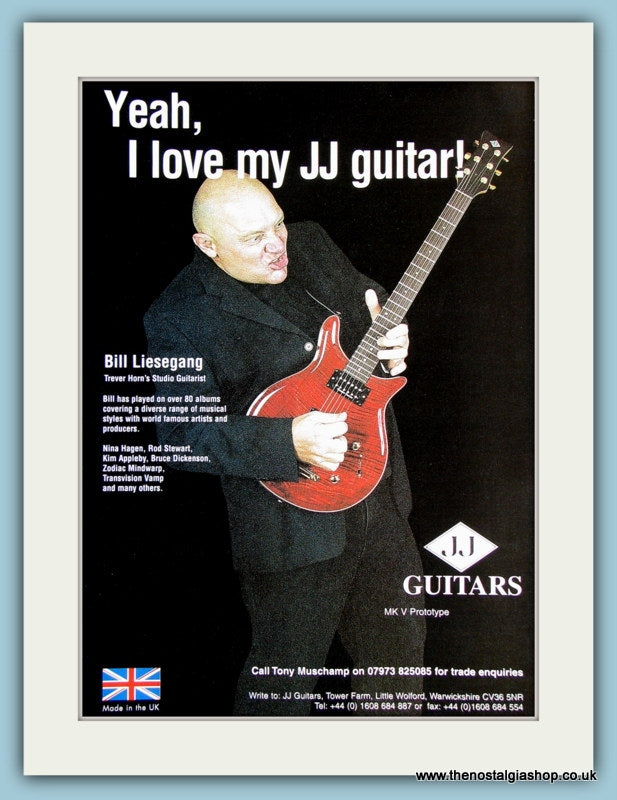JJ Guitars with Bill Liesegang. Original Advert 2001 (ref AD2231)