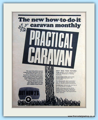 Practical Caravan Monthly Magazine 1967 Original Advert (ref AD6357)