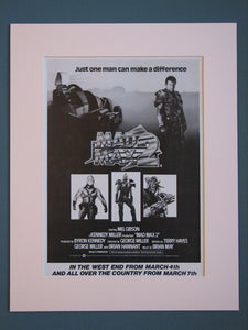 Mad Max 2  Original advert 1982 (ref AD405)