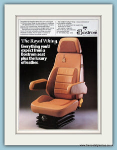 Bostrom  The Royal Viking Truck Seat Original Advert 1988 (ref AD2948)