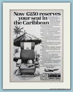Caribbean Airways Original Advert 1981 (ref AD2169)
