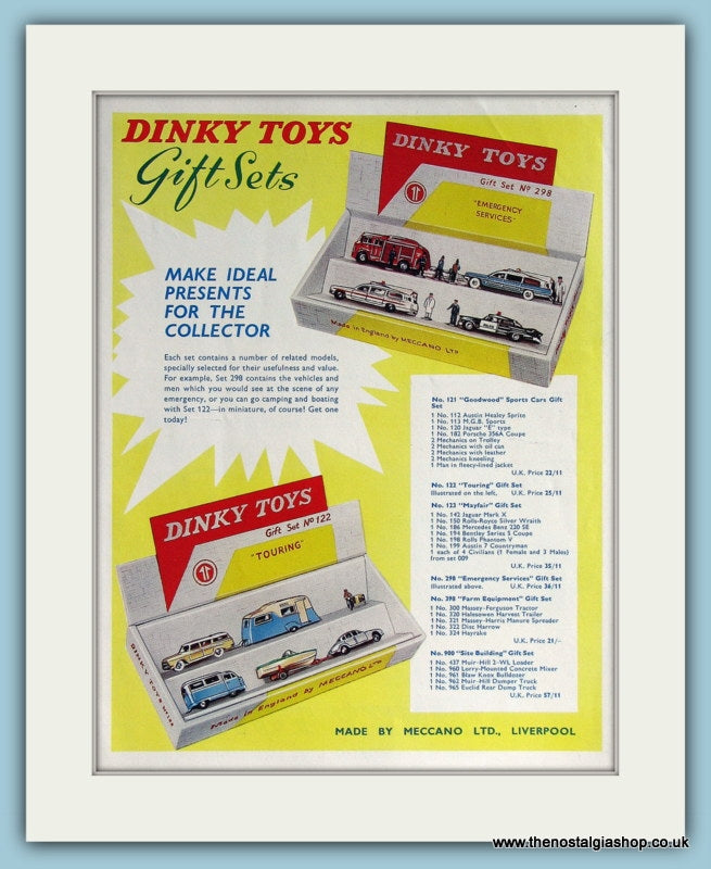 Dinky Toys Gift Sets. Original Advert 1963 (ref AD2831)
