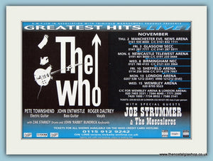The Who Tour Dates Original Advert 2000 (ref AD1988)