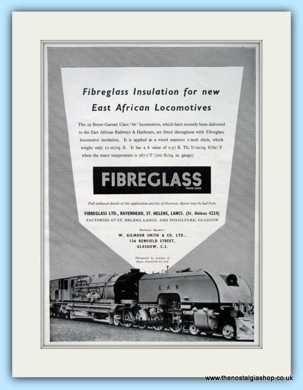 Fibreglass Beyer-Garratt Class '60' Locomotives  Original Advert 1955 (ref AD6510)