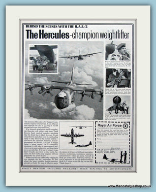 R.A.F The Hercules Original Advert 1969 (ref AD6270)