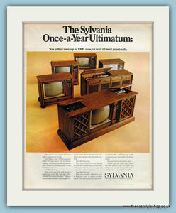 Sylvania TV and Stereo Sets. Original Advert 1970 (ref AD8292)