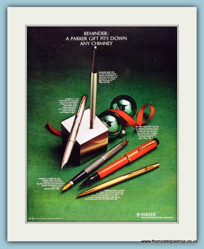 Parker Pens Original Advert 1970 (ref AD8281)