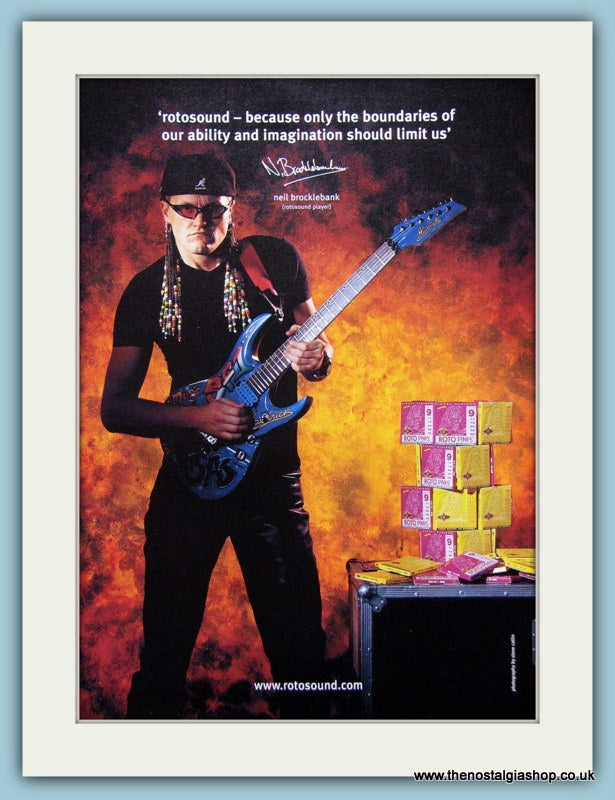 Rotosound Guitars Neil Brocklebank Original Advert 2002 (ref AD2678)