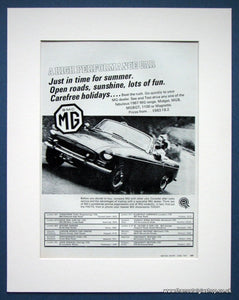 MG See the 1967 Range today! Original advert 1967 (ref AD1363)