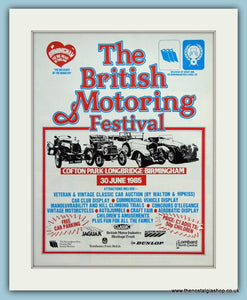 British Motoring Festival, Crofton Park. Original Advert 1985 (ref AD2002)